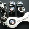 bouchon valve de roue (x4)+ porte cle buick logo auto