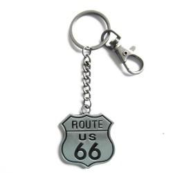 porte clé route 66 métal...