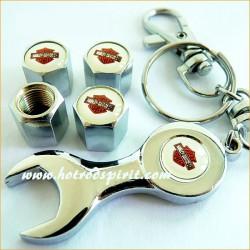 bouchon valve de roue (x4)+...