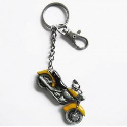 porte clé moto jaune en 3d...