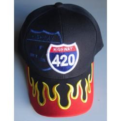 casquette highway 420 bleu...