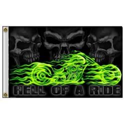 drapeau moto hell of a ride...