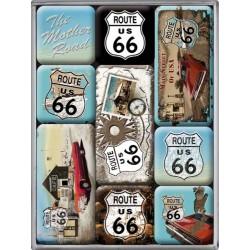 lot 9 magnet route 66 bleu...