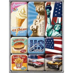 lot 9 magnet US cars ice...