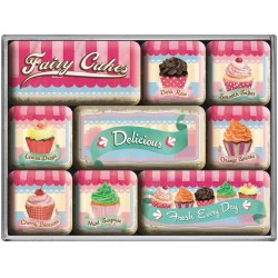 lot 9 magnet cupcake gateau...
