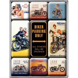 lot 9 magnet biker parking...