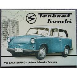magnet 6x8cm trabant kombi...