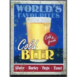 magnet 6x8cm cold beer...
