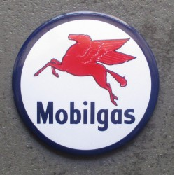 magnet mobilgas rond huile...