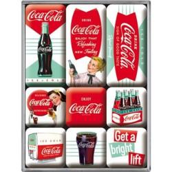 lot 9 magnet coca cola...