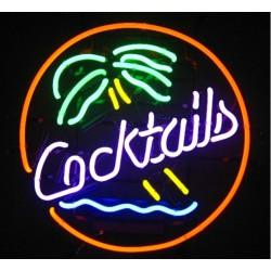 néon publicitaire cocktail...