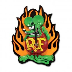 pendule rat fink flammes 3D...