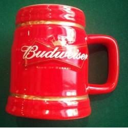 1 mug biere budweiser rouge...