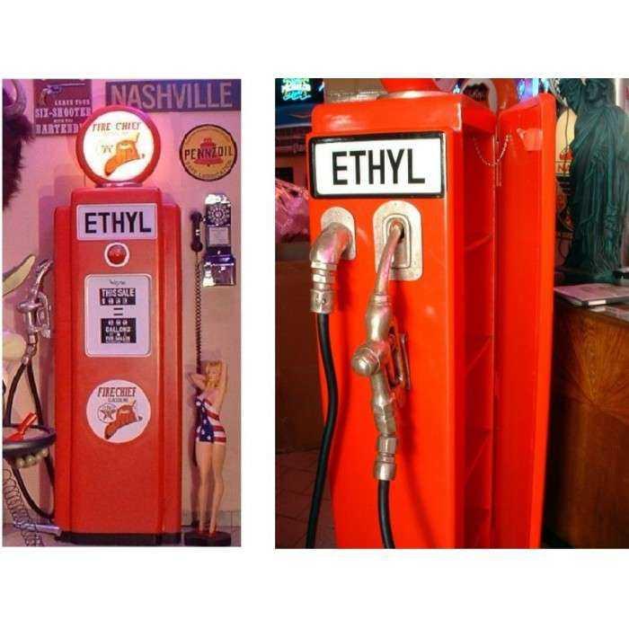 pompe à essence texaco ethyl deco garge loft meuble bois