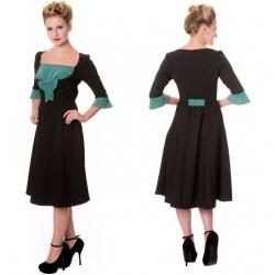 robe pin up noire et vert...