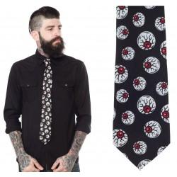 cravate  noir homme oeil...
