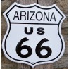 plaque route 66 blason arizona tole publicitaire usa deco