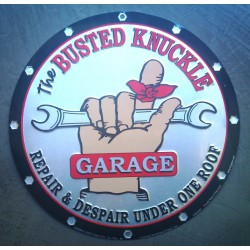 plaque busted garage ronde...
