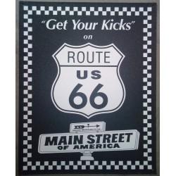 plaque route 66 kicks main...