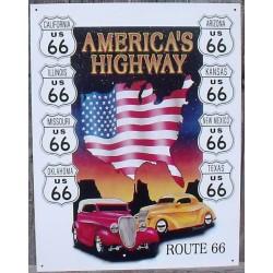 plaque route 66 hot rod...