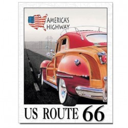 plaque route 66 woody...