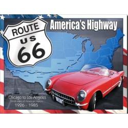 plaque route 66 corvette...