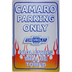 plaque camaro parking...