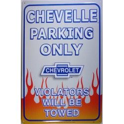 plaque chevelle parking...