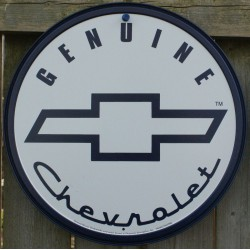 plaque chevrolet genuine...