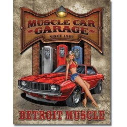 plaque muscle car  garage...