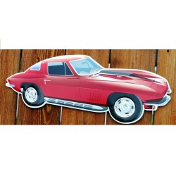 plaque corvette rouge...
