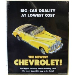 plaque chevrolet  big car...