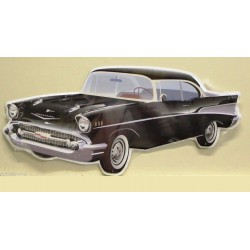 plaque chevy bel air 57...
