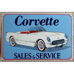 plaque chevrolet corvette...