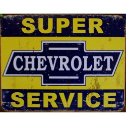 plaque chevrolet super...