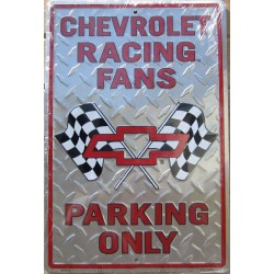 plaque chevrolet racing fan...
