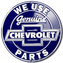 plaque chevy  genuine bleu...