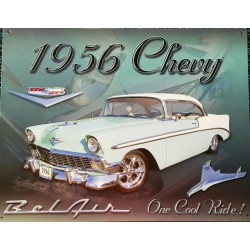 plaque chevrolet bel air...