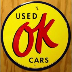 plaque used OK cars  jaune...