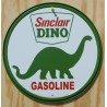 plaque sinclair dino huile dinosaure tole deco garage usa