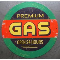 plaque premium gas open 24...