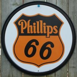 plaque phillips 66 ronde...