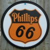 plaque phillips 66 ronde deco garage loft diner us pub huile