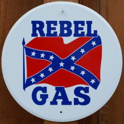 plaque rebel gas blanche...
