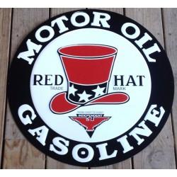 plaque red hat motor oil...