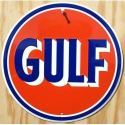 plaque gulf orange ronde...
