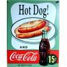 plaque soda coca cola hot dog deco bar diner loft usa tole