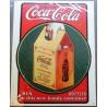 plaque coca cola livré en carton tole deco affiche metal usa
