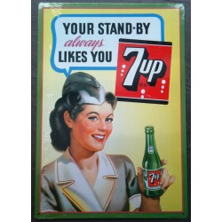 plaque seven up serveuse...