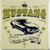plaque ford mustang carré united we ' stang tole deco garage